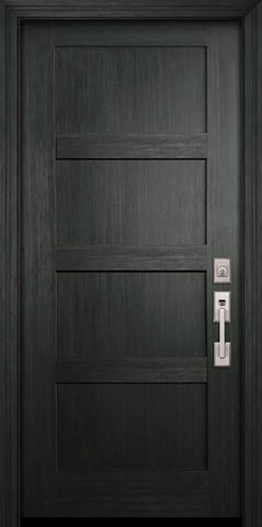 WDMA 36x80 Door (3ft by 6ft8in) Exterior Fir 80in Shaker 4 Panel Door 1