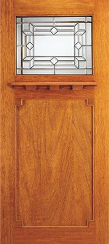 WDMA 36x84 Door (3ft by 7ft) Exterior Mahogany Brazilian Arts and Crafts Style Single Door Triple Glazed 1