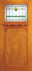 WDMA 36x84 Door (3ft by 7ft) Exterior Mahogany Single Doors Frank Lloyd Wright Mission Design 1