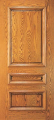 WDMA 36x84 Door (3ft by 7ft) Exterior Mahogany Wood 3 Panel Traditional Colonial Single Door 1