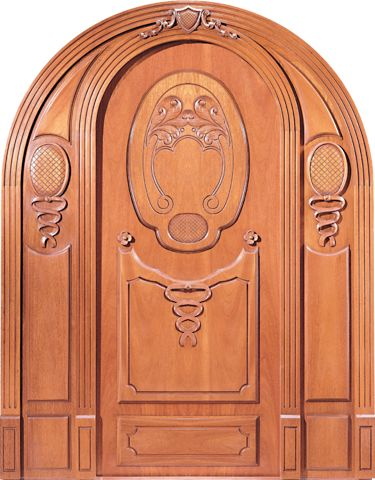 WDMA 36x84 Door (3ft by 7ft) Exterior Mahogany Maltese Style Arch Hand Carved Door inspired by The Hal Millieri 1