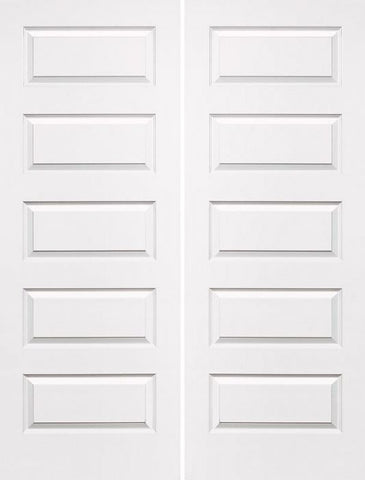 WDMA 36x96 Door (3ft by 8ft) Interior Swing Smooth 96in Rockport Hollow Core Double Door|1-3/8in Thick 1