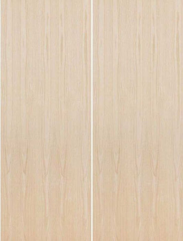WDMA 36x96 Door (3ft by 8ft) Interior Swing Birch 96in Solid Particle Core Flush Double Door|1-3/8in Thick 1