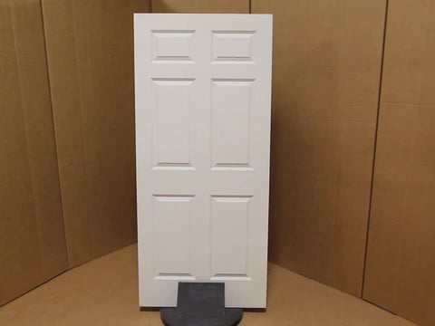 WDMA 36x96 Door (3ft by 8ft) Interior Swing Smooth 96in Colonist Solid Core Double Door|1-3/8in Thick 3