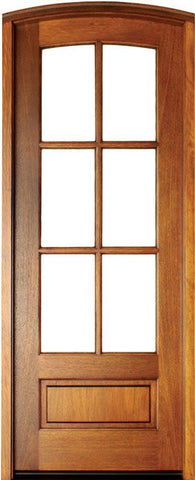 WDMA 36x96 Door (3ft by 8ft) Patio Swing Mahogany Alexandria Arched TDL 6 Lite Single Door/Arch Top 1