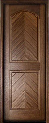 WDMA 36x96 Door (3ft by 8ft) Exterior Swing Mahogany Manchester Solid Panel Arched Single Door 1