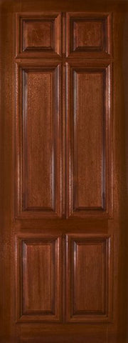 WDMA 36x96 Door (3ft by 8ft) Exterior Mahogany 36in x 96in 6 Panel DoorCraft Door 1