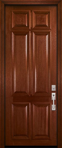 WDMA 36x96 Door (3ft by 8ft) Exterior Mahogany 36in x 96in 6 Panel DoorCraft Door 2