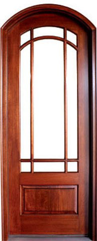 WDMA 36x96 Door (3ft by 8ft) Exterior Swing Mahogany Asheville TDL Single Door/Arch Top 1