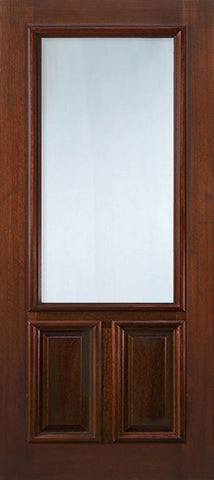 WDMA 36x96 Door (3ft by 8ft) Exterior Mahogany 36in x 96in 2/3 Lite DoorCraft Door 1