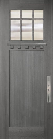WDMA 36x96 Door (3ft by 8ft) Exterior Mahogany 36in x 96in Craftsman Marginal 6 Lite SDL 1 Panel Door 1