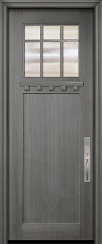 WDMA 36x96 Door (3ft by 8ft) Exterior Mahogany 36in x 96in Craftsman Marginal 6 Lite SDL 1 Panel Door 2