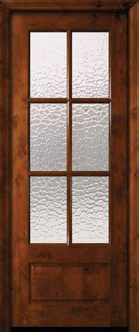 WDMA 36x96 Door (3ft by 8ft) Patio Knotty Alder 36in x 96in 6 Lite TDL Estancia Alder Door w/Textured Glass 2