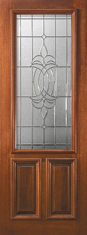 WDMA 36x96 Door (3ft by 8ft) Exterior Mahogany 36in x 96in 2/3 Lite Colonial 2 Panel DoorCraft Door 1