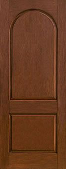 WDMA 36x96 Door (3ft by 8ft) Exterior Rustic Fiberglass Impact Door 8ft 2 Panel Round Top 1
