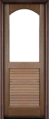 WDMA 36x96 Door (3ft by 8ft) Exterior Swing Mahogany Orleans Single Door Renaissance 1