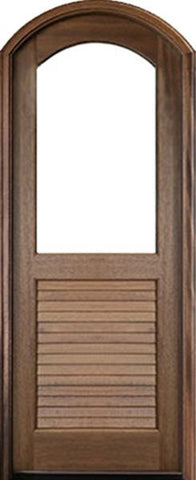 WDMA 36x96 Door (3ft by 8ft) Exterior Swing Mahogany Orleans Single Door/Arch Top Renaissance 1