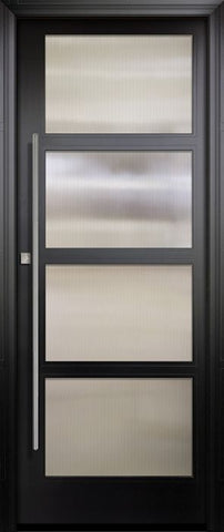 WDMA 36x96 Door (3ft by 8ft) Exterior Swing Smooth 36in x 96in 4 Block Left NP-Series Narrow Profile Door 1