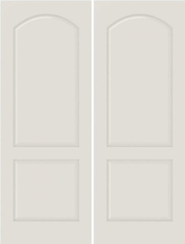 WDMA 40x80 Door (3ft4in by 6ft8in) Interior Bifold Smooth 2020 MDF 2 Panel Arch Panel Double Door 1
