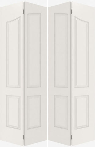 WDMA 40x80 Door (3ft4in by 6ft8in) Interior Barn Smooth 4090 MDF Pair 4 Panel Arch Panel Double Door 1