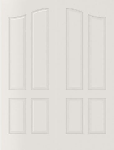 WDMA 40x80 Door (3ft4in by 6ft8in) Interior Barn Smooth 4090 MDF Pair 4 Panel Arch Panel Double Door 2