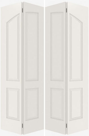 WDMA 40x80 Door (3ft4in by 6ft8in) Interior Bifold Smooth 4060 MDF Pair 4 Panel Arch Panel Double Door 1