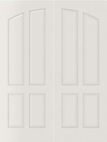 WDMA 40x80 Door (3ft4in by 6ft8in) Interior Bifold Smooth 4060 MDF Pair 4 Panel Arch Panel Double Door 2