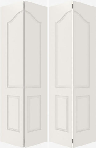 WDMA 40x84 Door (3ft4in by 7ft) Interior Bifold Smooth 3220 MDF 3 Panel Arch Panel Double Door 2