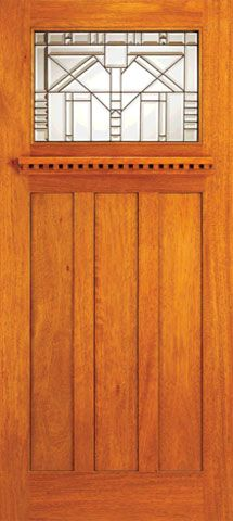 WDMA 42x80 Door (3ft6in by 6ft8in) Exterior Mahogany Craftsman Style Entry Doors for Arts and Crafts Home 1