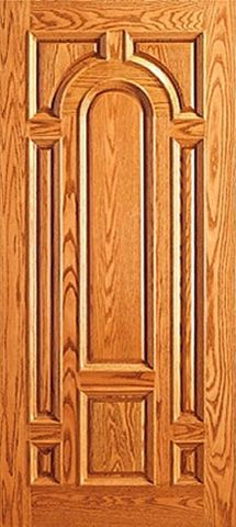 WDMA 42x80 Door (3ft6in by 6ft8in) Exterior Mahogany Entry Wood 8 Panel Raised Moulding Single Door 1