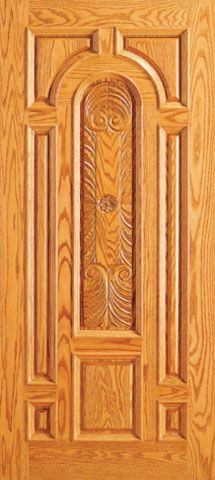 WDMA 42x80 Door (3ft6in by 6ft8in) Exterior Mahogany Single Entry Door Carved 8 Panel raised Moulding 1