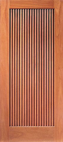 WDMA 42x80 Door (3ft6in by 6ft8in) Exterior Mahogany Single Door Hand Carved One-Panel 1