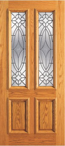 WDMA 42x80 Door (3ft6in by 6ft8in) Exterior Mahogany Single Door Twin Lite Entry Insulated Beveled Glass 1