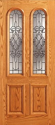 WDMA 42x80 Door (3ft6in by 6ft8in) Exterior Mahogany Twin Lite Arch Lite Entry Single Door Insulated Glass 1