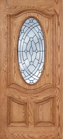 WDMA 42x80 Door (3ft6in by 6ft8in) Exterior Oak Dally Single Door w/ EE Glass - 6ft8in Tall 1