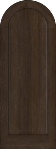 WDMA 42x84 Door (3ft6in by 7ft) Exterior Swing Mahogany Full Round Panel Round Top Entry Door 1
