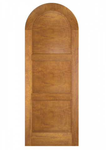 WDMA 42x84 Door (3ft6in by 7ft) Exterior Swing Mahogany Round Top 3 Panel Solid Transitional Home Style or Interior Single Door 2