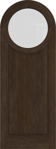 WDMA 42x84 Door (3ft6in by 7ft) Exterior Swing Mahogany Circle Round Top Full Lite Entry Door 1