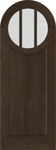 WDMA 42x84 Door (3ft6in by 7ft) Exterior Swing Mahogany Circle Round Top 3 Lite Vertical Entry Door 1