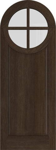 WDMA 42x84 Door (3ft6in by 7ft) Exterior Swing Mahogany Circle Round Top 4 Lite Entry Door 1