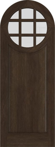 WDMA 42x84 Door (3ft6in by 7ft) Exterior Swing Mahogany Circle Round Top 9 Lite Entry Door 1