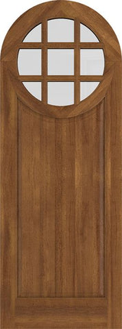 WDMA 42x84 Door (3ft6in by 7ft) Exterior Swing Mahogany Circle Round Top 9 Lite Entry Door 2