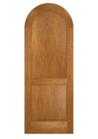 WDMA 42x96 Door (3ft6in by 8ft) Exterior Swing Mahogany Round Top 2 Panel Transitional Home Style or Interior Single Door 2