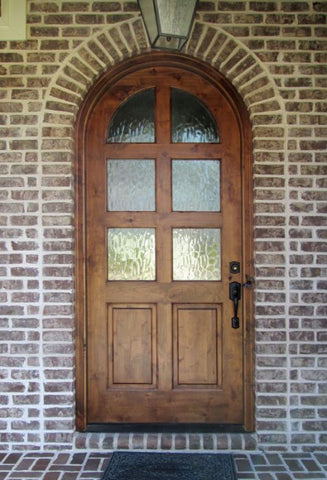 WDMA 42x96 Door (3ft6in by 8ft) Exterior Swing Knotty Alder Meadowlands 6 Lite Single Door/Round Top 2-1/4 Thick 2