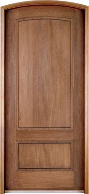 WDMA 42x96 Door (3ft6in by 8ft) Exterior Swing Mahogany Trinity 2 Panel Single Door/Arch Top 1
