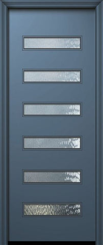 WDMA 42x96 Door (3ft6in by 8ft) Exterior Smooth 42in x 96in Beverly Solid Contemporary Door w/Textured Glass 1