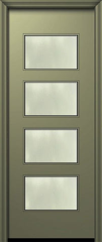 WDMA 42x96 Door (3ft6in by 8ft) Exterior Smooth 42in x 96in Santa Monica Solid Contemporary Door w/Textured Glass 1