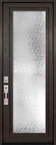 WDMA 42x96 Door (3ft6in by 8ft) French 42in x 96in Full Lite Single Privacy Glass Entry Door 1