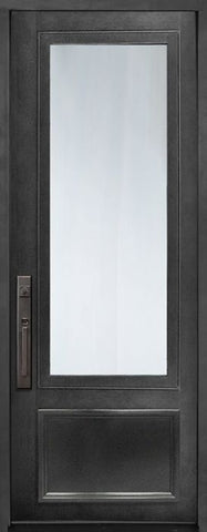 WDMA 42x96 Door (3ft6in by 8ft) Exterior 42in x 96in 3/4 Lite Single Privacy Glass Entry Door 1