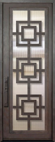 WDMA 42x96 Door (3ft6in by 8ft) Exterior 42in x 96in Moderne Full Lite Single Contemporary Entry Door 1